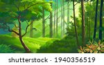 thick meadows within a dense... | Shutterstock .eps vector #1940356519