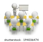 3d small people studying in... | Shutterstock . vector #194036474