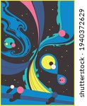 abstract space illustration 3d...   Shutterstock .eps vector #1940372629