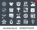 seo glyph icons set. seo... | Shutterstock .eps vector #1940374249