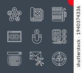 seo line icons set. seo vector... | Shutterstock .eps vector #1940374336