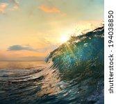 tropical summer design template ... | Shutterstock . vector #194038850