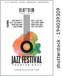 jazz music  poster background... | Shutterstock .eps vector #194039309