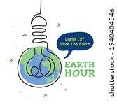 earth hour. light bulb... | Shutterstock .eps vector #1940404546
