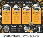 restaurant sandwich menu design.... | Shutterstock .eps vector #1940421649