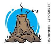 sleeping cartoon volcano vector ... | Shutterstock .eps vector #1940425189