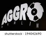 "Small photo of CIRCA APRIL 2014 - BERLIN: the logo of the brand ""Aggro Berlin, Berlin."