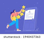 customer review and user rating ...   Shutterstock .eps vector #1940437363