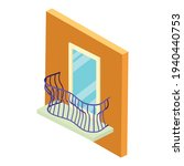 stylish balcony icon. isometric ... | Shutterstock .eps vector #1940440753