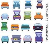 trunk car icons set. cartoon... | Shutterstock .eps vector #1940448766