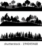 set of different silhouettes of ... | Shutterstock .eps vector #194045468
