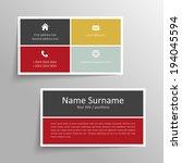 modern simple business card... | Shutterstock .eps vector #194045594