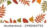 autumn frame from yellow  green ... | Shutterstock .eps vector #1940464753