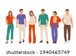 set of young men and women ... | Shutterstock .eps vector #1940465749