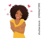 happy cute african woman with... | Shutterstock .eps vector #1940467390