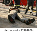 After a car accident - stock photo