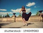 beautiful young woman in... | Shutterstock . vector #194049083