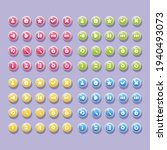 set of buttons with icons for...