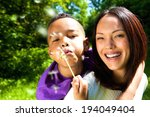 close up portrait of a smiling... | Shutterstock . vector #194049404
