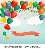 retro holiday background with...   Shutterstock .eps vector #194050460