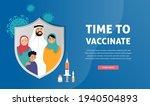 muslim family vaccination... | Shutterstock .eps vector #1940504893