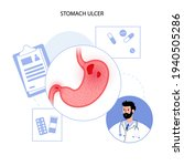 ulcer  pain and inflammation in ... | Shutterstock .eps vector #1940505286