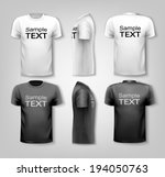 t shirts with sample text space.... | Shutterstock .eps vector #194050763