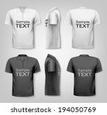 polo shirts with sample text... | Shutterstock .eps vector #194050769