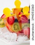 frozen strawberry kiwi peach... | Shutterstock . vector #194051060