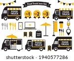food truck icon set.  black ... | Shutterstock .eps vector #1940577286