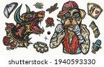 dogs. evil doberman and crime... | Shutterstock .eps vector #1940593330