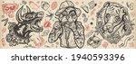 dogs. evil doberman  street... | Shutterstock .eps vector #1940593396