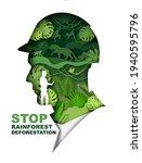 stop rainforest deforestation... | Shutterstock .eps vector #1940595796