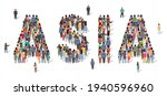large group of people standing...   Shutterstock .eps vector #1940596960