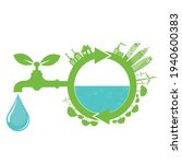 world water day save nature... | Shutterstock .eps vector #1940600383