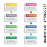 infographics rectangle paper...   Shutterstock .eps vector #1940607259