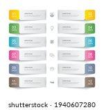 12 data infographics tab paper...   Shutterstock .eps vector #1940607280