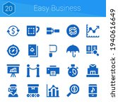 easy business icon set. 20...