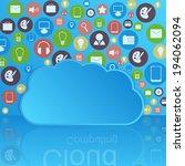 cloud computing concept. modern ... | Shutterstock . vector #194062094