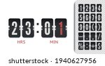 retro design score board clock...