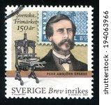 sweden   circa 2005  stamp... | Shutterstock . vector #194063966