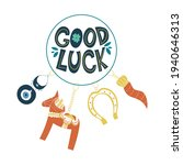 good luck wish phrase with...   Shutterstock .eps vector #1940646313