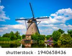 Traditional Dutch Windmill At...