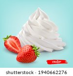 whipped cream with whole... | Shutterstock .eps vector #1940662276