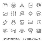 vector set of image line icons. ... | Shutterstock .eps vector #1940679676