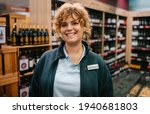 Woman Working In A Wine Store....