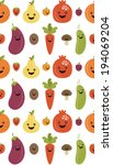 fun fruits and vegetables... | Shutterstock .eps vector #194069204