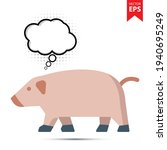 pig with thought bubble...