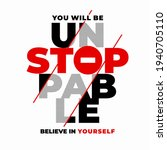 unstoppable  modern and stylish ... | Shutterstock .eps vector #1940705110
