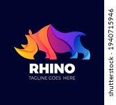 colorfull wild rhino elegant...   Shutterstock .eps vector #1940715946